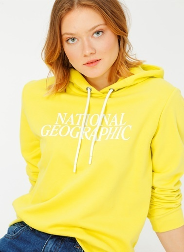 National Geographic National Geographic Sarı Sweatshirt Sarı